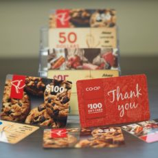 Gift Cards available after all Weekend Masses.